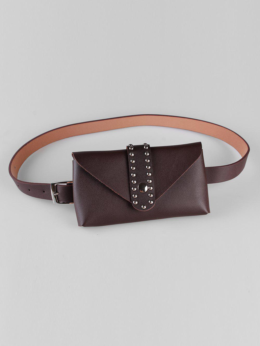 Outfits Stylish Removable Fanny Pack Faux Leather Belt Bag