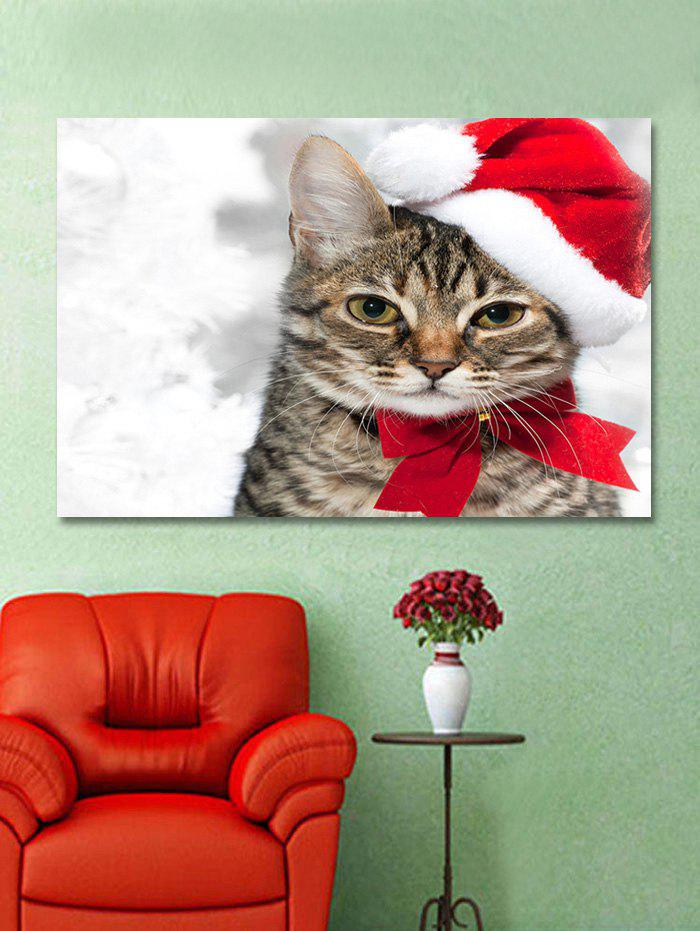 Buy Christmas Cat Print Wall Art Sticker