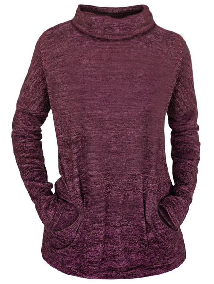 New Space Dye Turtle Neck Top