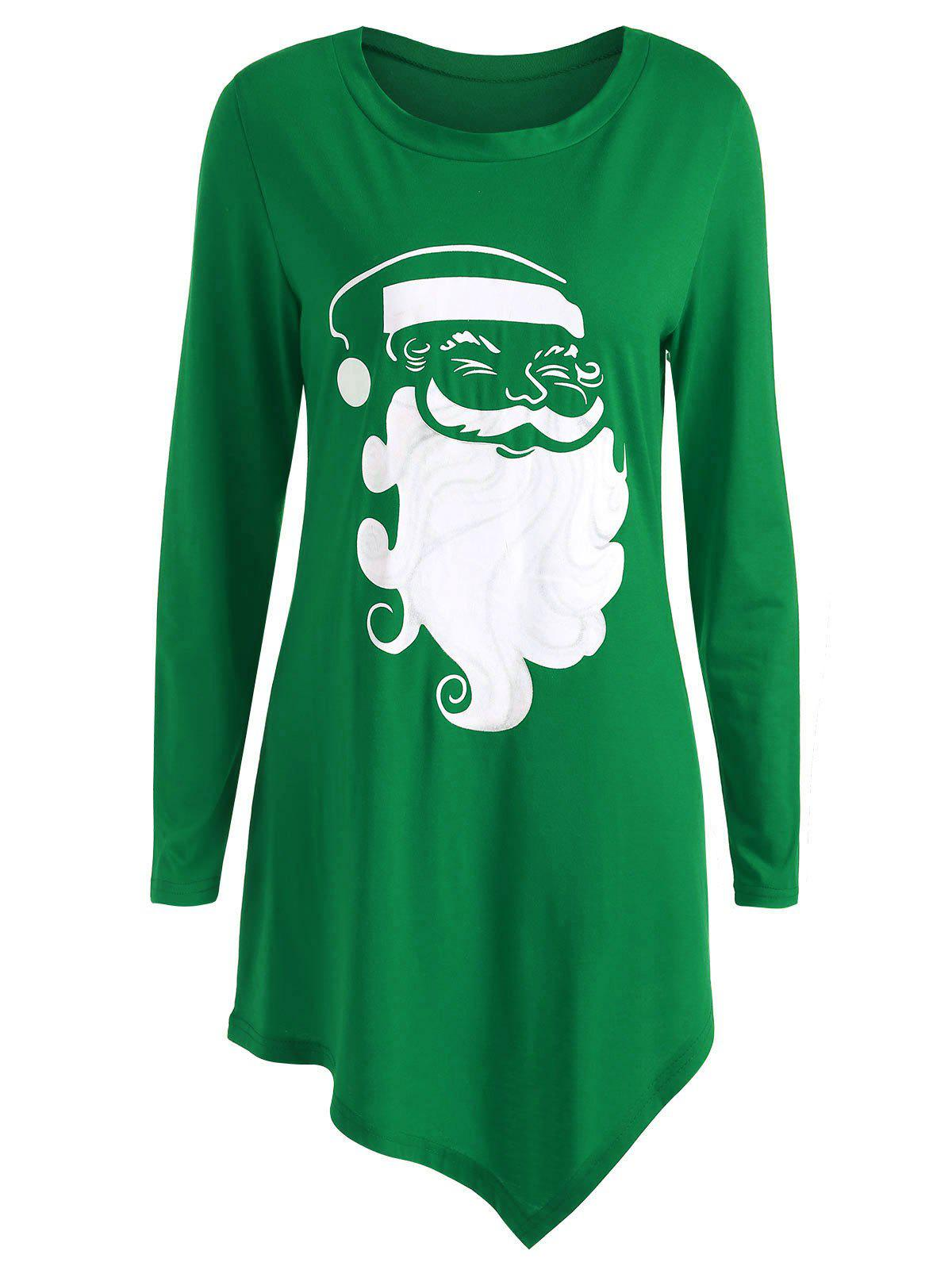 Online Plus Size Christmas Santa Claus T-shirt