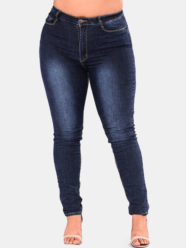 Hot Plus Size High Rise Skinny Jeans