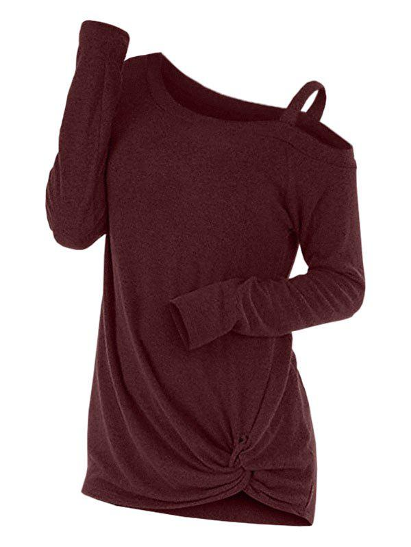 Shops Knotted Skew Neck Sweater