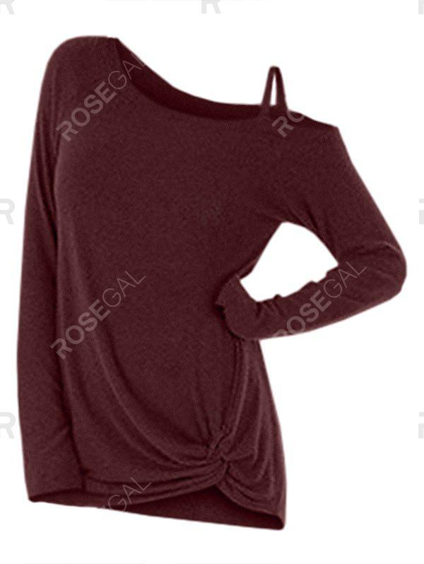 Best Knotted Skew Neck Sweater