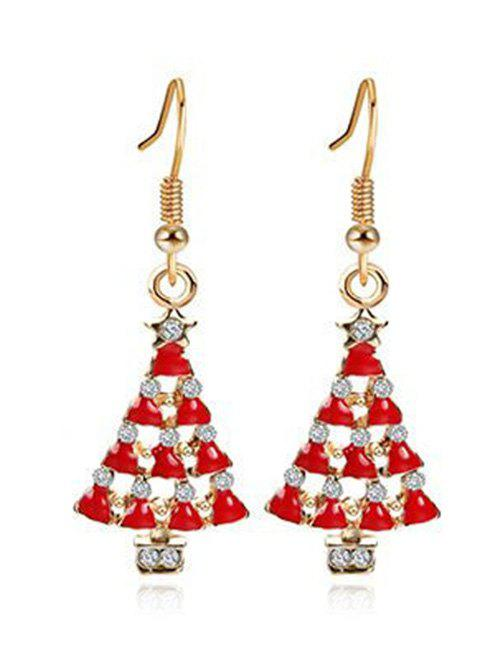 New Christmas Tree Faux Crystal Embellished Earrings