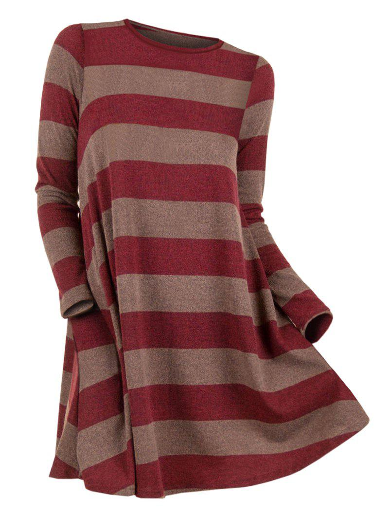 Discount Striped Round Neck Sweater