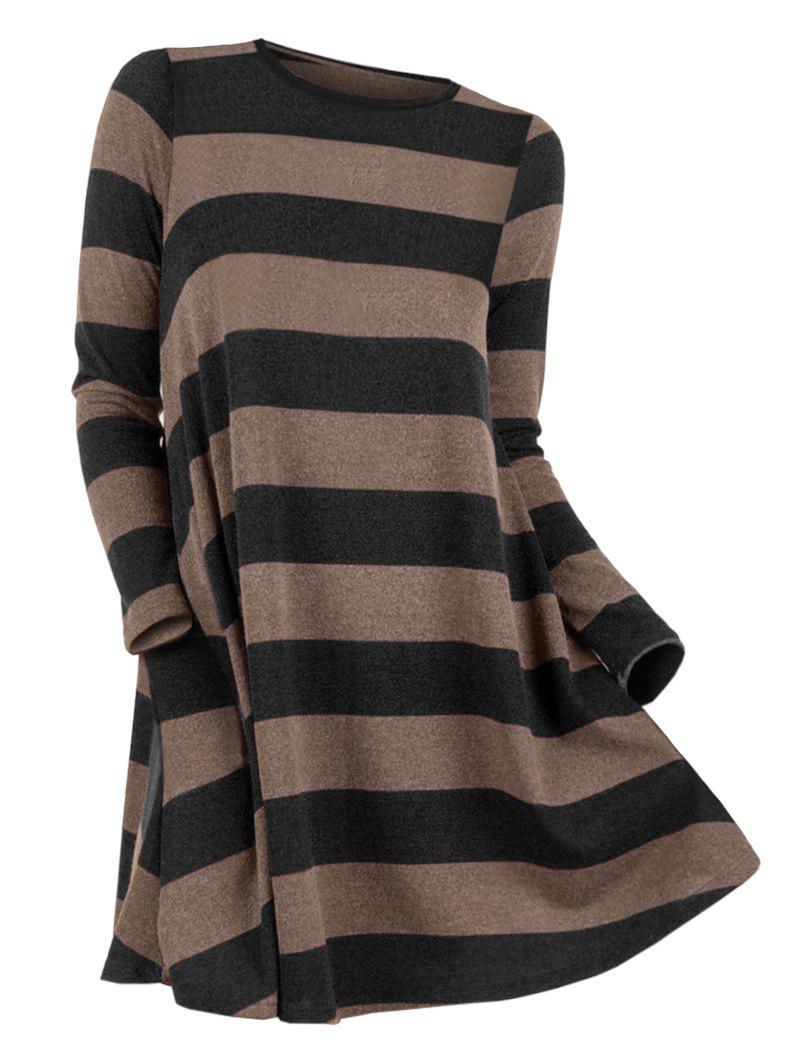 Outfit Striped Round Neck Sweater