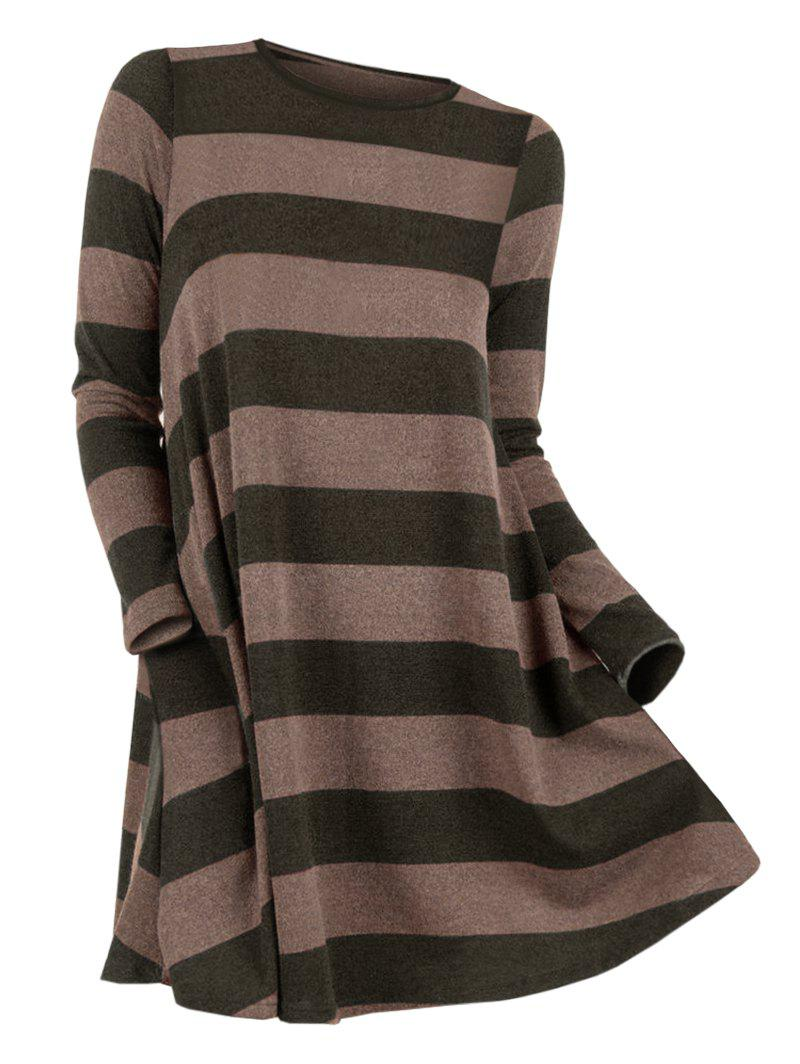 Fancy Striped Round Neck Sweater
