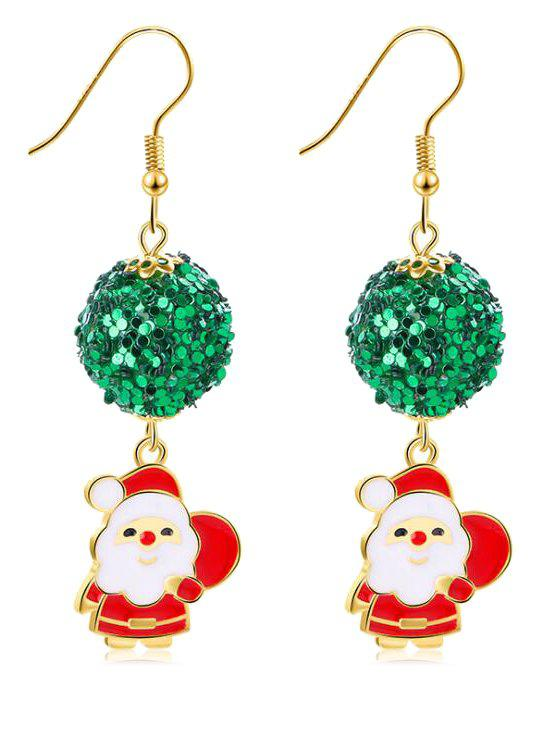 Chic Christmas Sequins Ball Decoration Santa Earrings
