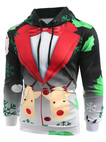 Christmas Faux Suit Print Pullover Hoodie