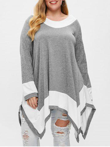 a425cf00bc5 48% OFF   2019 Plus Size Open Shoulder Strappy Overlap Tunic T-shirt ...