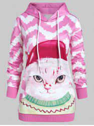 Plus Size Pullover 3D Graphic Hoodie with Pocket -