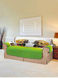 Dog with Rose Pattern Couch Cover -