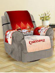Christmas Santa Snowman Elk Pattern Couch Cover -