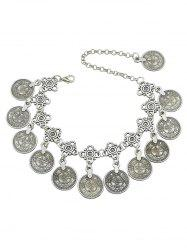 Layered Coins Design Alloy Anklet -