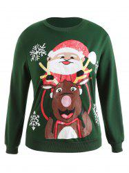 Plus Size Christmas Graphic Pullover Sweatshirt -