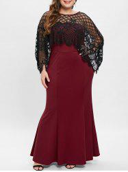 Plus Size Mother of The Mermaid Bride Dress and Plaid Top -