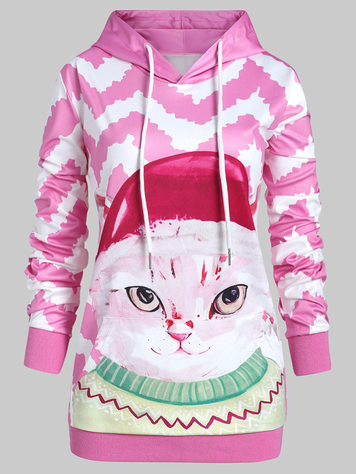 Discount Plus Size Pullover 3D Graphic Hoodie with Pocket