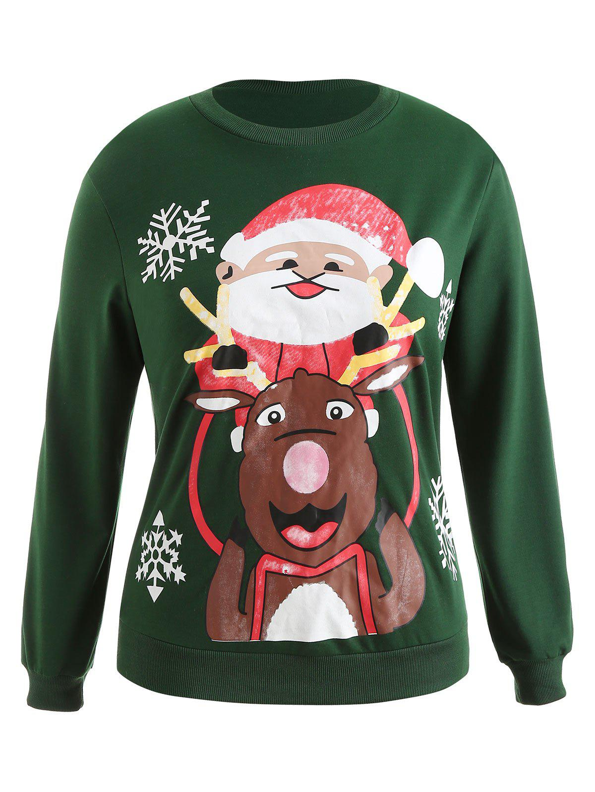 Online Plus Size Christmas Graphic Pullover Sweatshirt