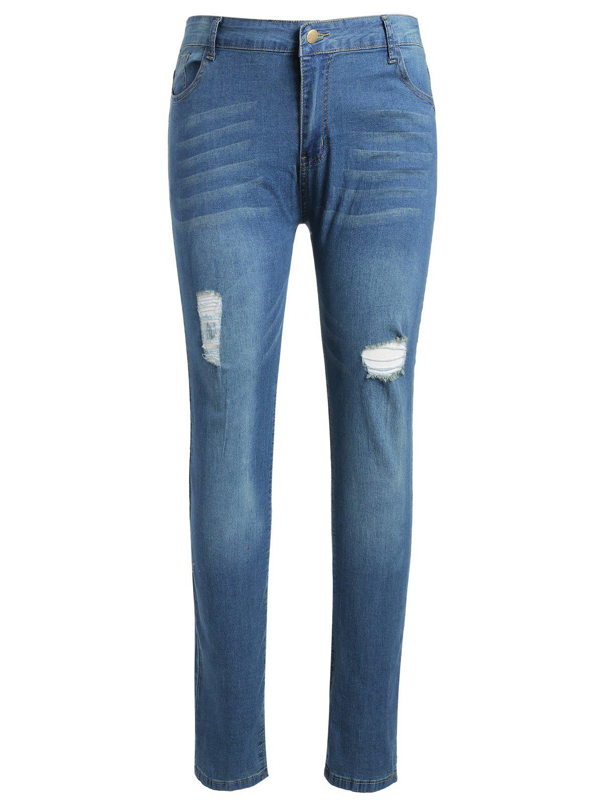 Discount Plus Size Ripped Jeans