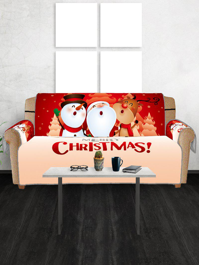 Hot Christmas Santa Snowman Elk Pattern Couch Cover