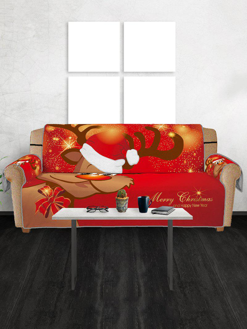Sale Christmas Elk Pattern Couch Cover