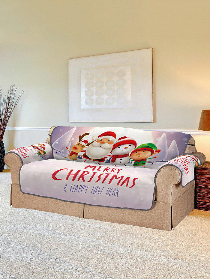 Fancy Christmas Companions Pattern Couch Cover