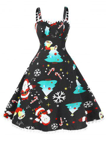 Vintage Pompom Plus Size Christmas Dress c87de92e3f10