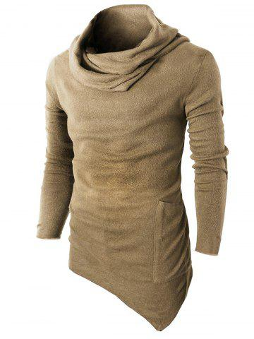 f14c36ef7 Cowl Neck Asymmetric Sweater with Side Pocket