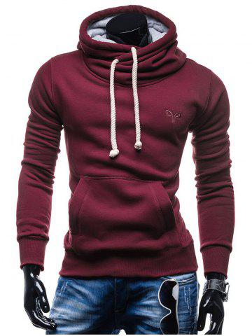 Whole Colored Drawstring Casual Hoodie