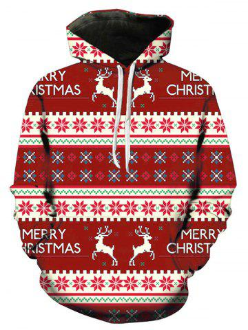 Christmas Geometry Pattern Long Sleeve Pullover Hoodie