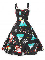 Vintage Pompom Plus Size Christmas Dress -