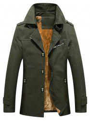 Winter Fluffy Lined Button Up Jacket -