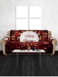 Christmas Bowknot Baubles Printed Sofa Cover -