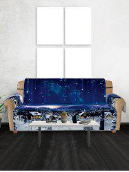 Christmas Starry Sky Pattern Couch Cover -