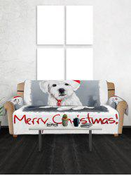 Merry Christmas Dog Pattern Couch Cover -