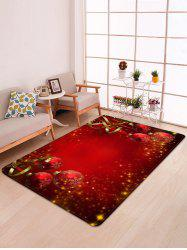 Red Christmas Balls Pattern Non-slip Area Rug -