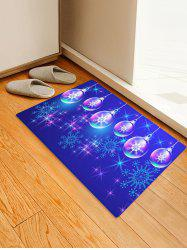 Christmas Ball and Snowflake Printing Non-slip Area Rug -