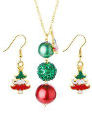 Sequins Ball Design Christmas Tree Earrings Necklace -