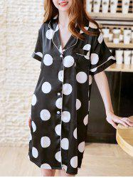 Polka Dot Print Sleeping Dress -