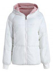 Color Block Hooded Padded Jacket -
