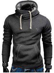 Whole Colored Drawstring Casual Hoodie -