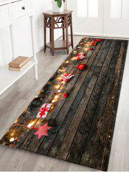 Wood Board and Gift Pattern Non-slip Area Rug -