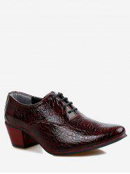 Pointed Toe Lacing Business Shoes -