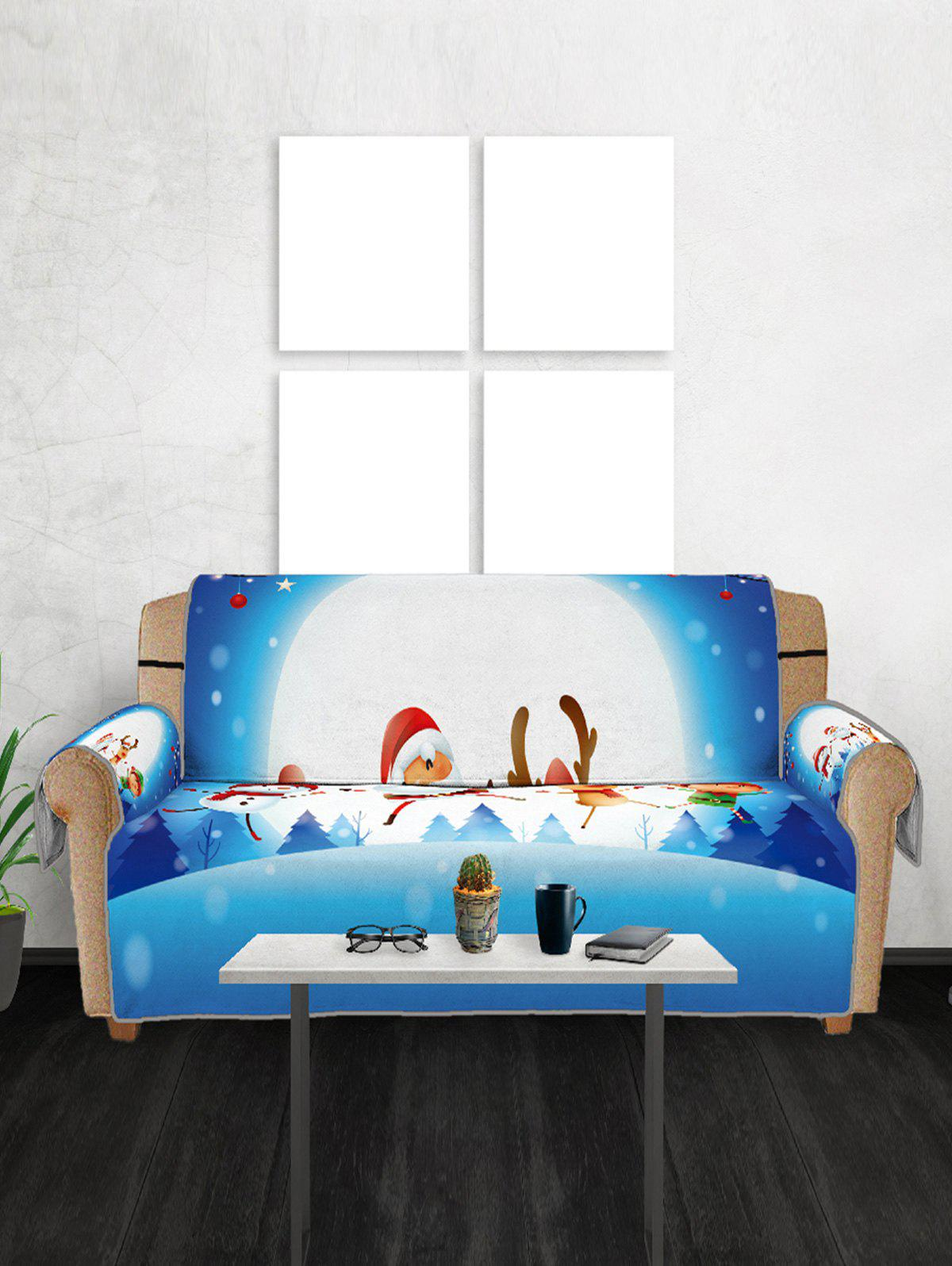 55 Off 2018 Christmas Snow Night Scenery Printed Sofa Cover