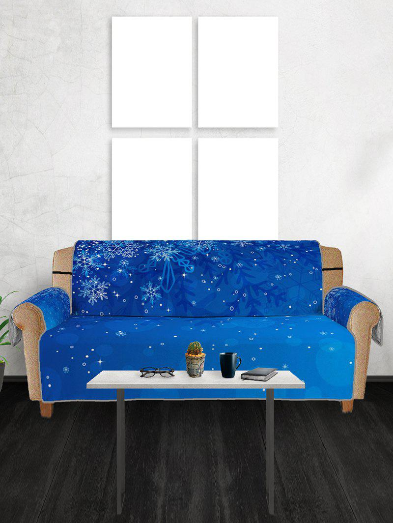 45 Off 2018 Christmas Snowflakes Printed Sofa Cover In Multi