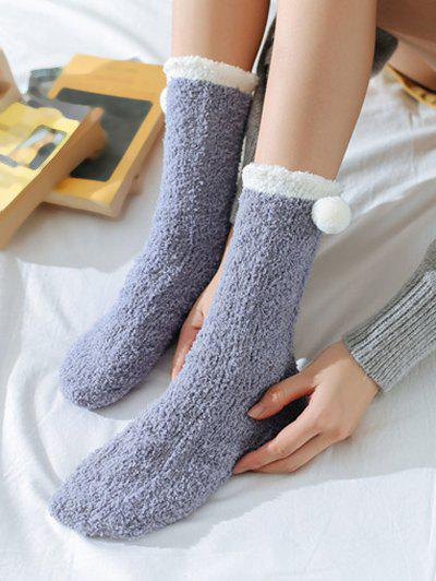 Outfits Winter Thick Ball Decor Polyester Warm fuzzy socks