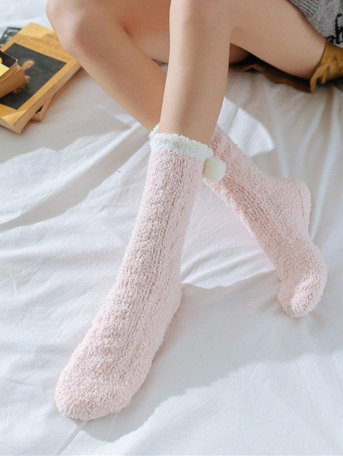 Store Winter Thick Ball Decor Polyester Warm fuzzy socks
