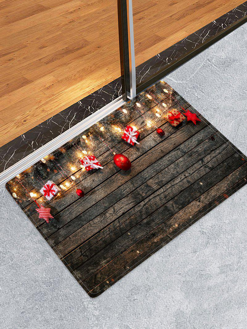 Online Wood Board and Gift Pattern Non-slip Area Rug