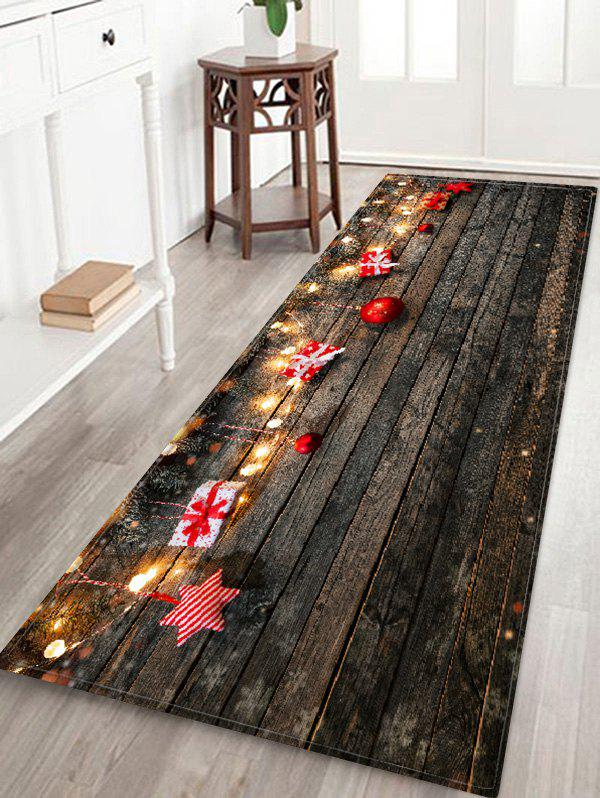 Chic Wood Board and Gift Pattern Non-slip Area Rug