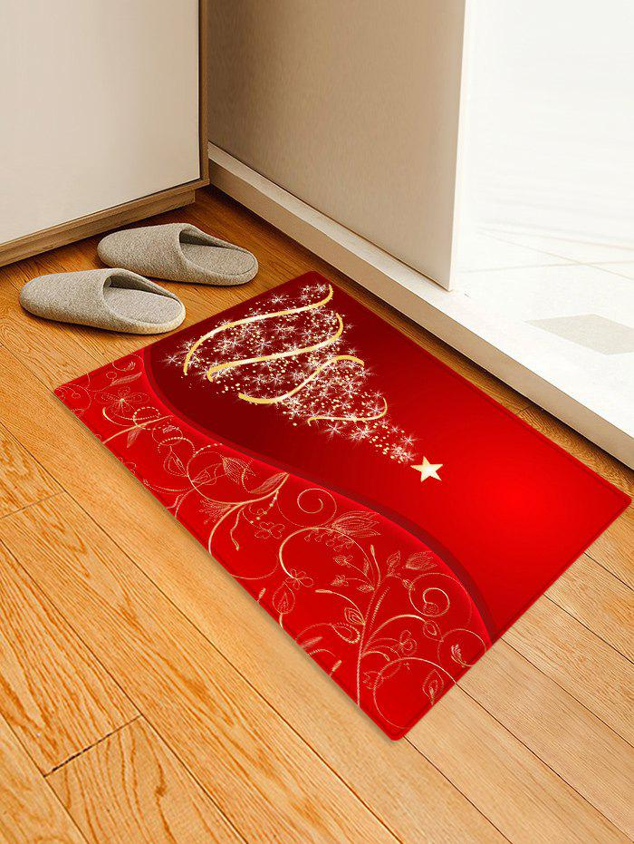 Store Christmas Tree and Star Print Water Absorption Area Rug